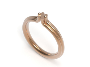 BAROQUE RING - SIZE 8 in Polished Bronze