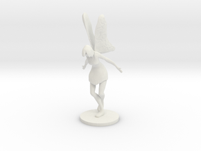 Fairy Figurine in White Natural Versatile Plastic