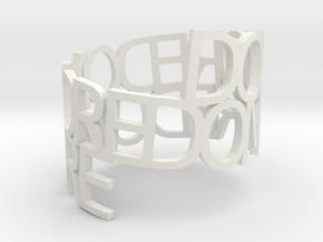 Ring Poem do more in White Natural Versatile Plastic