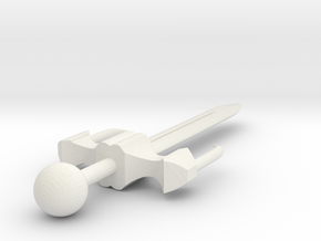 Miniature Sword in White Natural Versatile Plastic