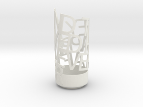 Light Poem Metal in White Natural Versatile Plastic
