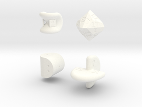 SirisC dice set in White Processed Versatile Plastic