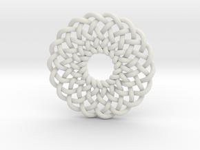 Celtic Knots 02 (small) in White Natural Versatile Plastic