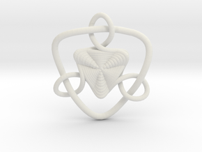 Celtic Knots 09 (small) in White Natural Versatile Plastic