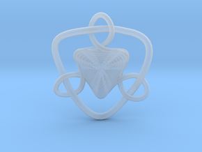 Celtic Knots 09 (small) in Smooth Fine Detail Plastic
