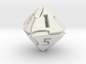 Tranglex Eight-Sided Die in White Natural Versatile Plastic