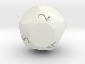 d9 - Nine-Sided Die in White Strong & Flexible