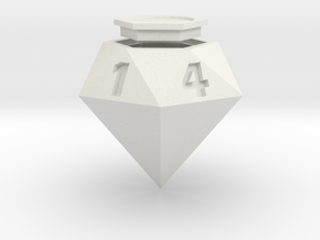 Diamond D6 in White Natural Versatile Plastic