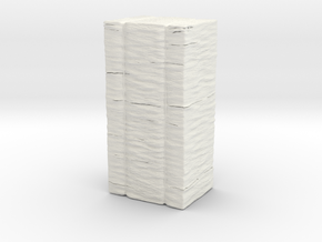 Hay Bale 1-43 in White Natural Versatile Plastic