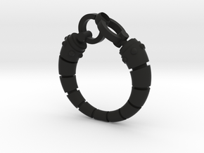 Robot arm Ring in Black Strong & Flexible