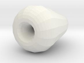 Klein Bottle (small) in White Natural Versatile Plastic