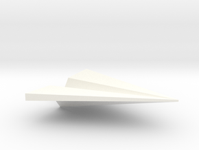 Paper Airplane Pendant in White Strong & Flexible Polished