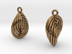 Running in Circles - Earrings (S) in Natural Brass