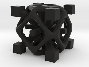 Complex 2-8 cube in Black Strong & Flexible
