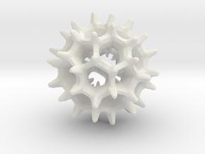 virus I 27mm in White Strong & Flexible