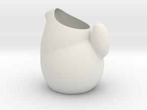 Suckle (simple v2) in White Natural Versatile Plastic