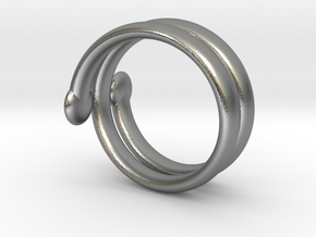 big ring in Natural Silver