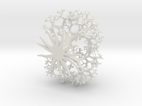 3d Pythagorus Tree in White Natural Versatile Plastic