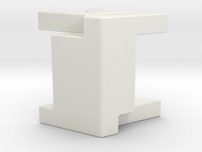 Interlocking Box piece in White Natural Versatile Plastic