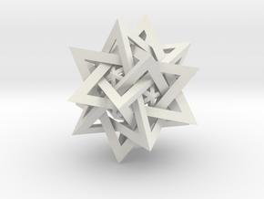 Five Tetrahedra Plus in White Natural Versatile Plastic