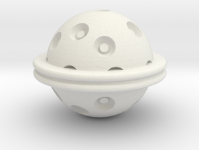 Hydra Ball in White Natural Versatile Plastic
