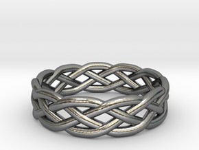Celtic Knot Ring in Polished Silver