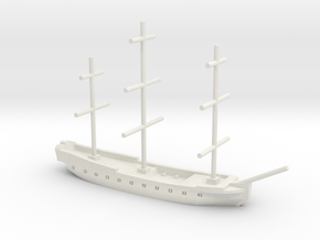 17th century frigate w/ mast, 1/800 in White Strong & Flexible