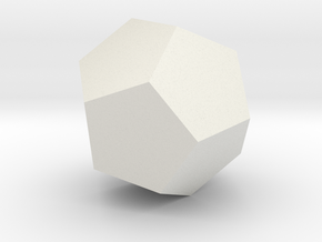 dodecahedron-l in White Natural Versatile Plastic