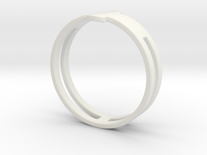 Customized Ring 1 in White Natural Versatile Plastic