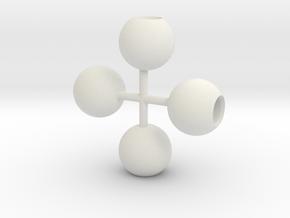 1/43 Light globe in White Natural Versatile Plastic