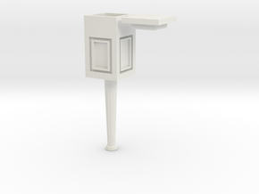 Light post 1/43 in White Natural Versatile Plastic