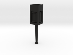 Concrete light post 1/32 in Black Strong & Flexible