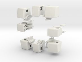 Void Floppy Cube V2 (3x3x1) in White Natural Versatile Plastic