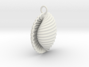 Ando Pendant in White Natural Versatile Plastic