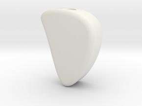 Designer Beads 2 in White Natural Versatile Plastic