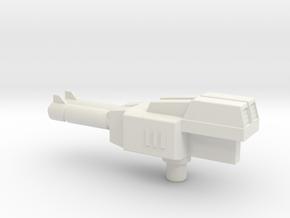 Turbo Rifle in White Natural Versatile Plastic
