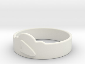 Customized Ring New in White Natural Versatile Plastic