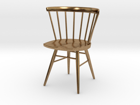 Nakashima Straight-Backed Chair - 6cm tall in Natural Brass