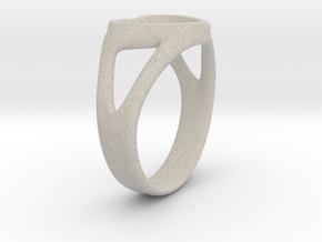 Silvia Heart ring in Natural Sandstone