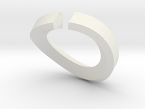 Single Diamond Bangle in White Natural Versatile Plastic