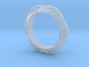 Flower Ring (Size: 6) in Smooth Fine Detail Plastic