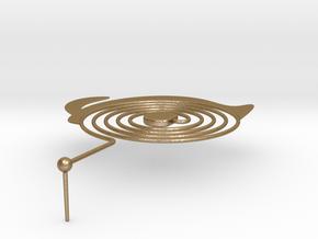 Customized Earrings in Polished Gold Steel