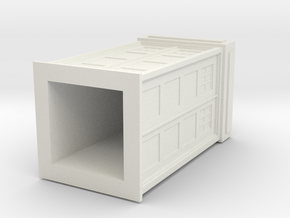 Police Box in White Natural Versatile Plastic