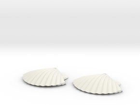 Concha earrings in White Natural Versatile Plastic