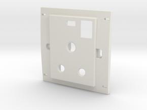 Dapeeza_15amps Socket Face Cover in White Natural Versatile Plastic