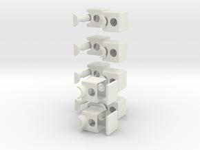 Minimis 1x2x5 in White Natural Versatile Plastic