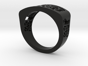 warpy ring in Black Strong & Flexible