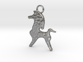 Bucephalus Horse Pendant in Natural Silver