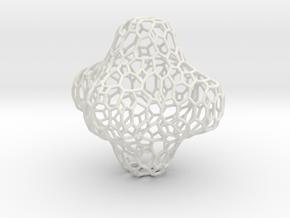 Voronoi Cross in White Natural Versatile Plastic