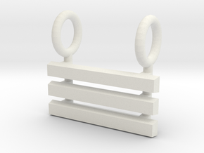 I Ching Trigram Pendant - Ch'ien Upper in White Natural Versatile Plastic